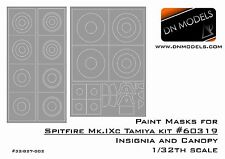 Paint Masks set canopy and roundels for 1/32 Spitfire Mk.IXc Tamiya kit #60319
