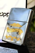Zippo Lighter - Harley Davidson - Eagle Crest - 14K Gold Inlaid - # 96828-04V