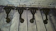 4 Vintage old  Industrial Cast Iron Casters & Bakelite Wheels Vono Coffee table