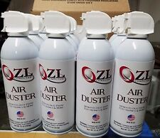 CASE OF 12 10OZ CANS ZL COMPUTERS CANNED AIR COMPRESSED AIR DUSTER WITH STRAW