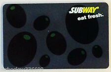 2008 Subway Canada Green Bubbles collectible gift card (NCV)