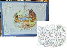 """Christmas Stamps """"BABY JESUS WITH ANIMALS"""" STAMPAVIE WDS690 cling stamp Holidays"""