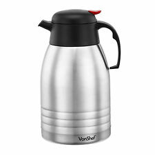 VonShef 2L Stainless Steel Double Wall Insulated Hot & Cold Drink Vacuum Jug