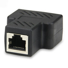 New Pro 1 to 2 LAN Ethernet Network Cable RJ45 Splitter Plug Adapter Connector