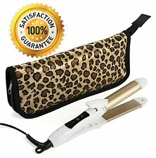 2-in-1 Mini Hair Straightener Travel Flat Iron/Curling Iron Dual Voltage 374 -