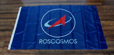 Roscosmos Flag Russian Space Agency Military Sign Russia Banner Cosmonaut NASA