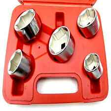 5pc 3/8 Inch Drive Oil Filter Remover Socket Set Universal Wrench Tool Kit