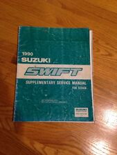 1990 Suzuki Swift sedan Service Repair Supplementary Supplement Manual