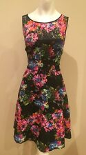 BETSEY JOHNSON VINTAGE Designer Dress Size 12 Large L Sundress 10 Floral Lace