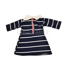 Dolls Costume Striped Skirt Dress for 18'' American Girl Our Generation Doll