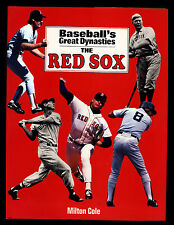 """VINTAGE 1990 """"BASEBALL'S GREAT DYNASTIES-THE RED SOX"""" MILTON COLE-HIGH GRADE!"""