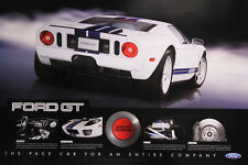 """FORD GT """"24 X 36"""" Original Dealer Poster Print White - Double Sided GT40 Shelby"""