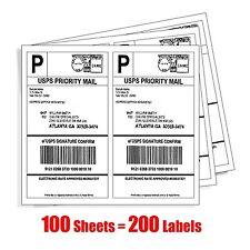 MFLABEL 200 Half Sheet Laser/Ink Jet Shipping Labels USPS Mailing Labels Adress
