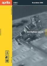 Aprilia Scarabeo 500 Workshop Repair Manual Printed Book Free Shipping