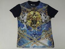 WTO2 - EGYPTIAN PHARAO  - ALL OVER GRAPHIC - LRG BLUE T-SHIRT- C1689