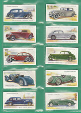 CARS  -  PLAYERS  -  SCARCE  SET  OF  50  MOTOR  CARS  2ND  CARDS  -  1937