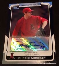 "DUSTIN MOSELEY 2008 Topps Highlights AUTOGRAPH Angles AUTO ""Hot Start 2007"" RARE"