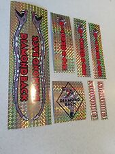Diamondback Pro Snake Decals Sticker Set Suit Your Old School BMX Gold