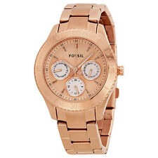 Fossil Stella Chronograph Multifunction Rose Gold-plated Ladies Watch ES2859