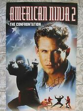 MICHAEL DUDIKOFF SIGNED 11x17 PHOTO DC/COA (AMERICAN NINJA 2 THE CONFRONTATION)