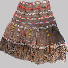 VINTAGE AFRICAN ETHNIC COSTUME CLOTHING IRAQW TRIBAL SKIRT LEATHER BEADED ETHNIX