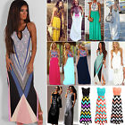 NEW Sexy Women's Summer Boho Sleeveless Maxi Dresses Fashion Party Long Sundress