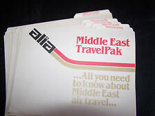 6 VINTAGE ALIA- THE ROYAL JORDANIAN AIRLINE FILE FOLDERS