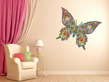 "Psychedelic Butterfly Vinyl Wall Decal Graphics 30""x22"" Bedroom Home Decor"