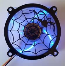 Custom 80mm BLACK WIDOW WEB Computer Fan Grill Gloss Black Acrylic Cooling Cover