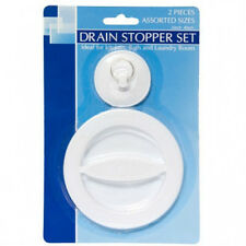 "2 pc Drain Stoppers Assorted Sizes 2"" &  4"" SINK BATH BATHTUB BASIN STOP"