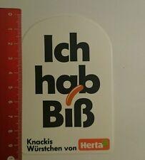 Aufkleber/Sticker: Knackis Würstchen von Herta ich Hab biß (270816124)