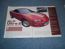 2002 Camaro SLP Ultra-Z Perfromance Car Article ---- From 2003 ----