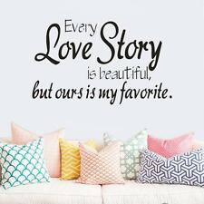 Our Love Story Removable Vinyl Decal Art Mural Home Decor Quote Wall Sticker HOT