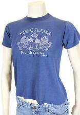 Vtg 80s New Orleans Mid-Riff T-Shirt 50/50 Super Soft Screen Stars Made In Usa!