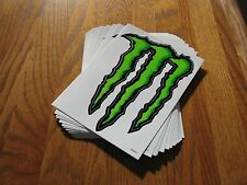 "(73) Monster Stickers Metal Sign 6"" x 9"" and 3"" x 4"" Energy Drinks Decals (New)"