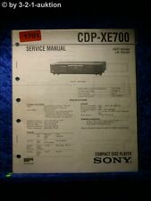 Sony Service Manual CDP XE700 CD Player (#1701)