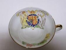 STANLEY ENGLAND FINE BONE CHINA CUP ONLY E II R PATTERN COAT OF ARMS VINTAGE