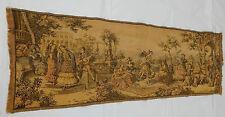 Vintage Belgium Dancing Scene Tapestry Wall Hanging 47x124cm T99