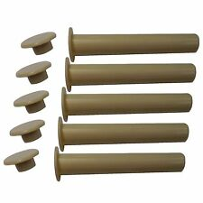 Pool Fence DIY by Life Saver Replacement Safety Sleeve & Cap for Peg Pole, 5 QTY