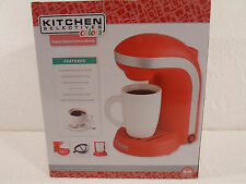 Kitchen Selectives  1-Cup Single Serve Drip Coffee Maker Pot Red
