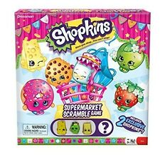 Shopkins Supermarket Scramble Game with 4 Exclusive Collectible Shopkins Char...