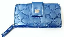 LOUNGEFLY Licensed SANRIO HELLO KITTY Blue Embossed Faux Leather Wallet NWT NEW