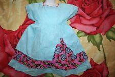 Kleid KINDER sommer Baumwolle Kleid von JUST KIDS Gr. 98  türkis-rosa neu