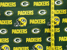 NFL GREEN  BAY PACKERS GREEN 100% COTTON FABRIC FAT QUARTER 18X29 INCHES