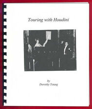 Original Touring With Houdini Booklet By The Famous Magician's Assistant