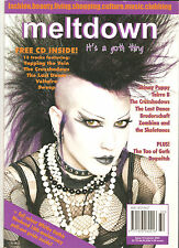 meltdown magazine #15 + CD goth Skinny Puppy Cruxshadows Halloween fashion