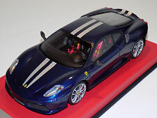1/18 Looksmart MR Ferrari F430 Scuderia Blue Tour de France Silver Stripes
