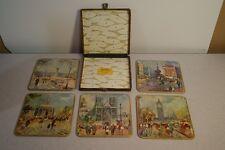 """Vintage Win-El-Ware Table Mats w/ Case """"London Scenes 1190/1385"""