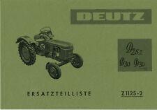 Piezas de recambio lista Deutz d25.2 d30 d30s para motor f2l812