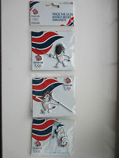 TEAM GB LONDON 2012 OLYMPIC FRIDGE MAGNET SET: TEAM GB, PRIDE THE LION - SEALED